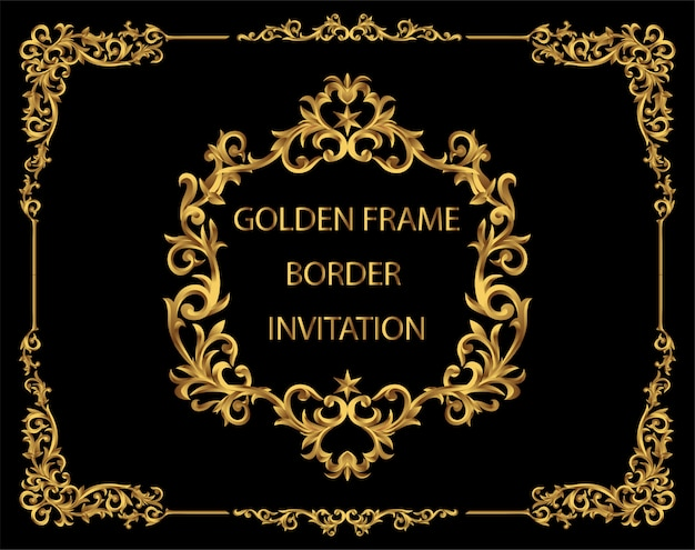 Royal of frame and border, line corner. decoration vintage style