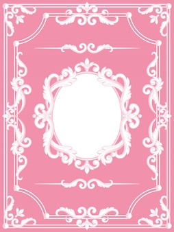 Royal frame on vintage design. royalty luxury frame on pink color