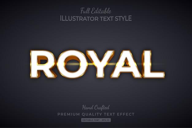 Royal gold редактируемый 3d-текст стиль эффект премиум