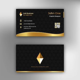 Royal gold business card
