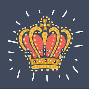 Royal gold crown for queen princess king