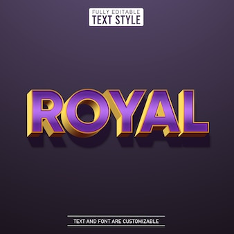 Royal gold metallic purple glamour text effect with shadow alphabet letter font collection