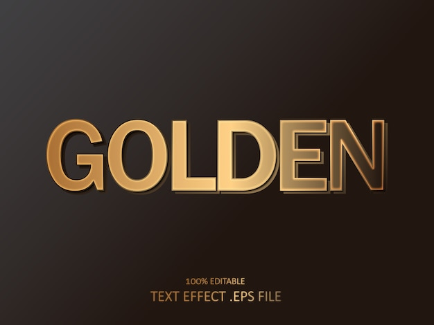 Royal golden 3d text effect. editable font style