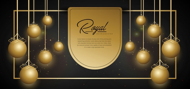 Royal golden background template