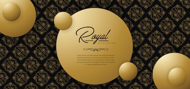 Royal golden background