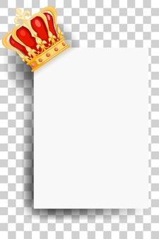 Royal golden crown