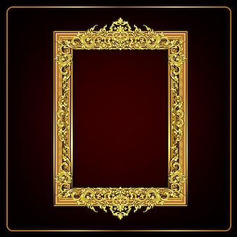 Royal golden floral frame
