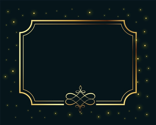Королевская золотая рамка роскошный фон с пространством для текста