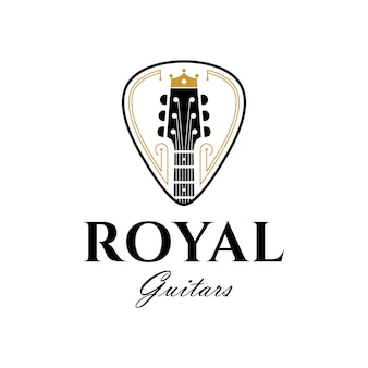 Royal guitars luxury logo template
