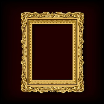 Royal invitation golden photo frame with corner