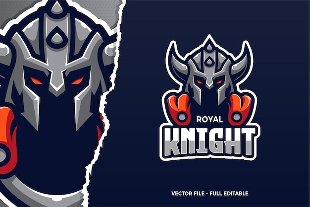 Royal knight e-sport 로고 템플릿