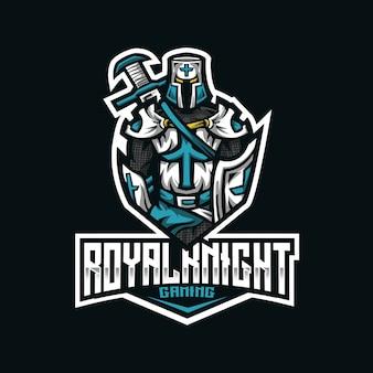 Шаблон логотипа royal knight esport