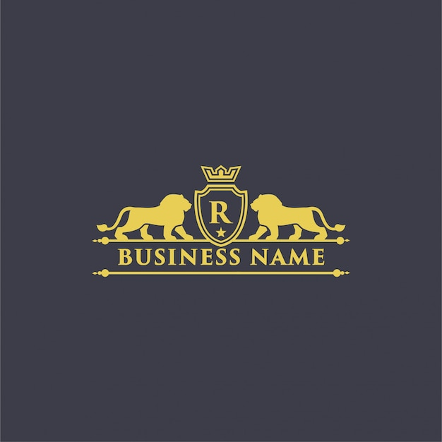 Royal lion crest