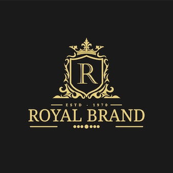 Royal logo design template vector illustration.