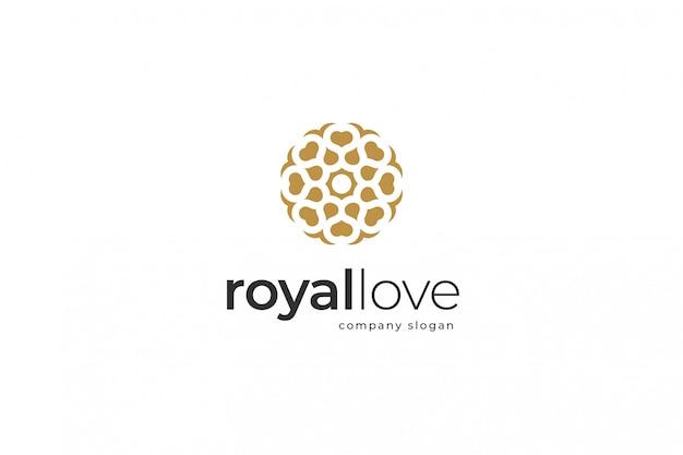 Royal love logo template