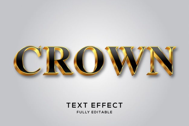 Royal luxury black & gold 3d text style effect