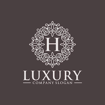 Royal luxury heraldic crest logo design vector template