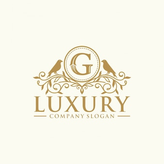 Royal luxury heraldic crest logo design vector template