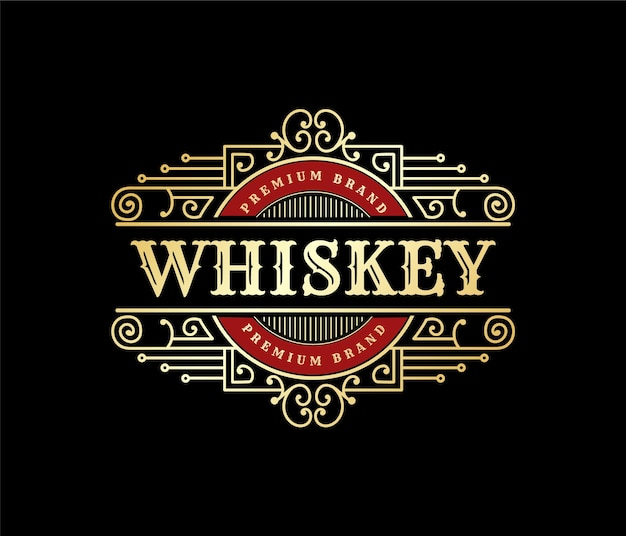 Royal luxury vintage logo badge for hand crafted beer brewery whiskey and alcohol beverage brands