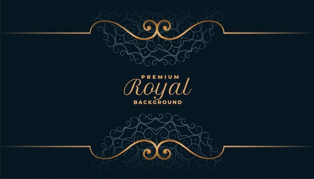 Royal mandala background in islamic style design