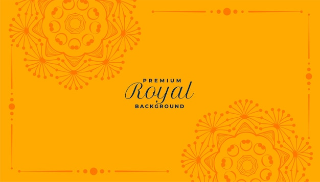 Royal mandala decorative pattern background