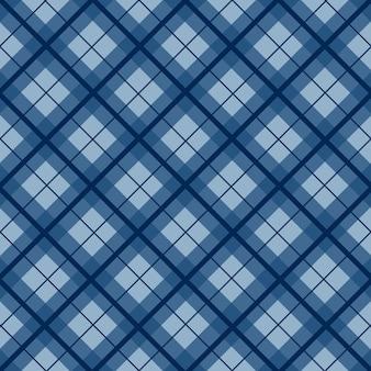 Royal navy blue christmas tartan vintage background