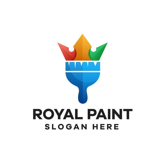로얄 페인트 그라데이션 다채로운 로고 디자인