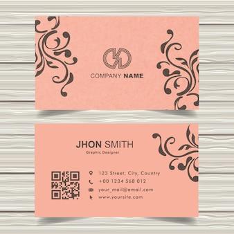 Royal pink business card design