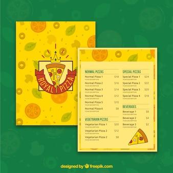 로얄 피자 메뉴