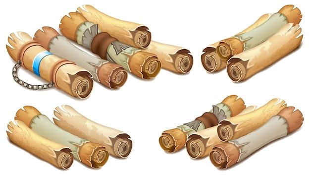 Королевский свиток с кожаным поясом