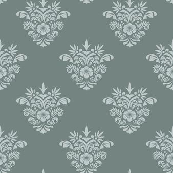 Королевский бесшовный фон в стиле барокко. фоновый шаблон для ткани или обоев,
