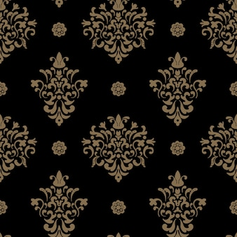 Royal seamless pattern baroque. vintage ornamental background design.
