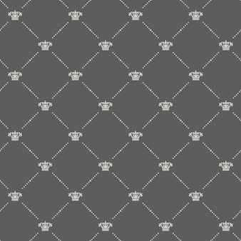 Royal seamless pattern in old style