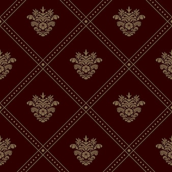 Royal seamless wallpaper pattern. vector background with floral elements