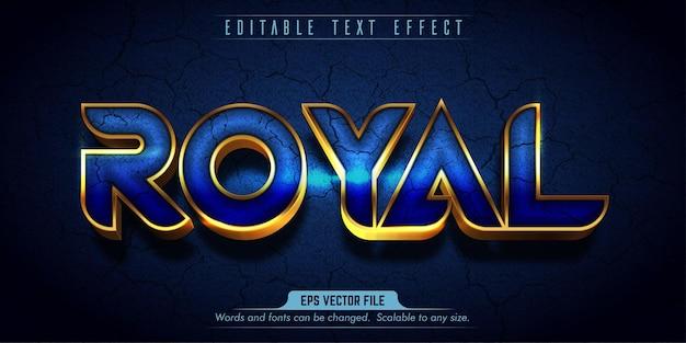 Royal style editable text effect