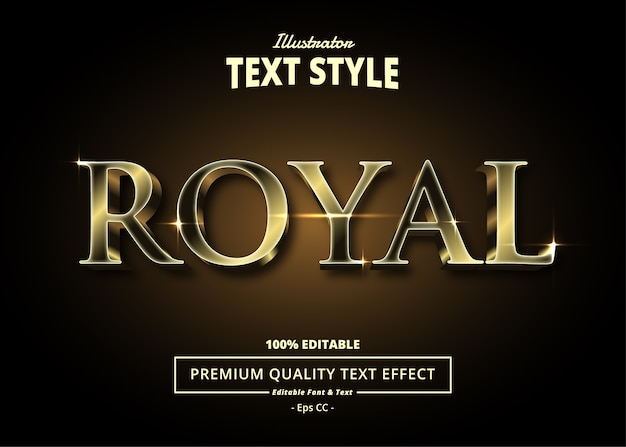 Royal  text effect