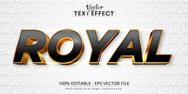 Royal text, shiny gold style editable text effect