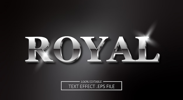 Royal text style effect. editable font style