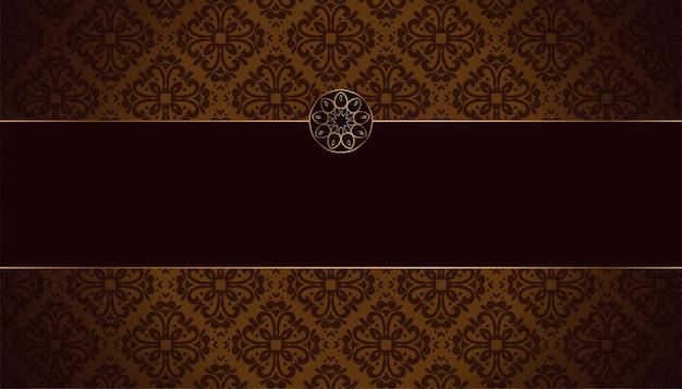 Royal vintage floral background design