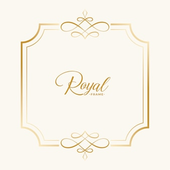 Royal vintage frame decor with text space