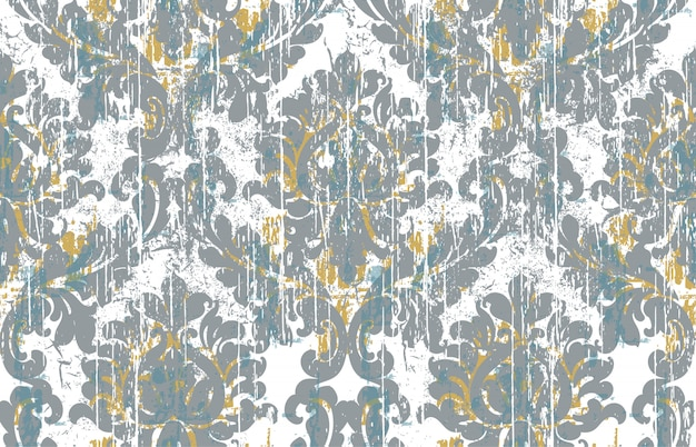 Royal vintage . grunge style. damaged retro wallpaper