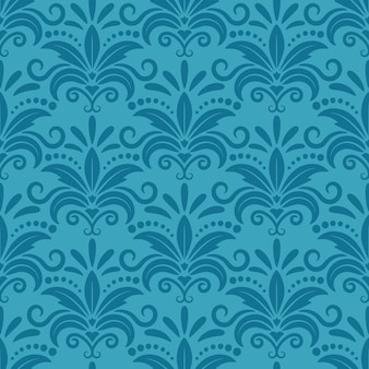 Royal wallpaper with damask seamless floral pattern. decor textile, texture darkturquoise, decorative silk design.