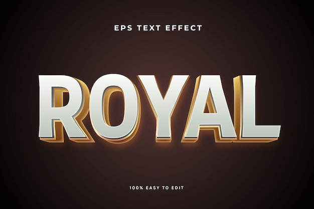 Royal white gold text effect