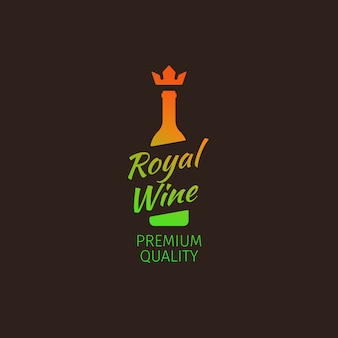 Royal wine premium quality colorful logo