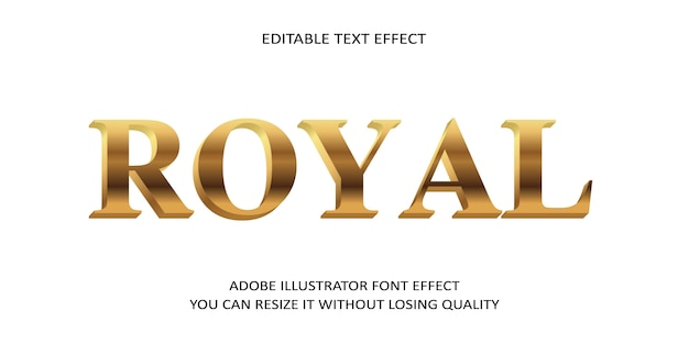 Royal редактируемый текстовый эффект