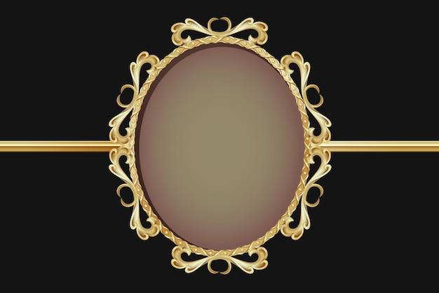 Royalty gold frame vintage style