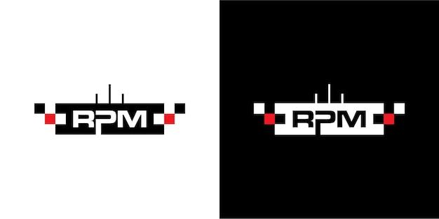 Rpm дизайн логотипа для автомобильной промышленности