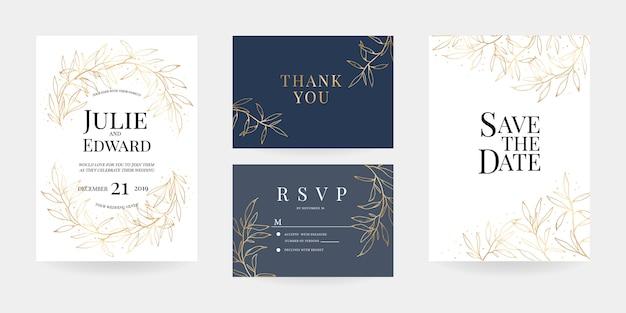 Приглашение на свадьбу, карточка rsvp, шаблон
