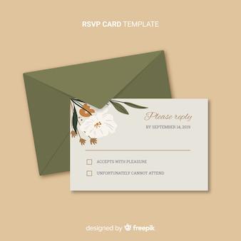 ウェディングrsvpカード