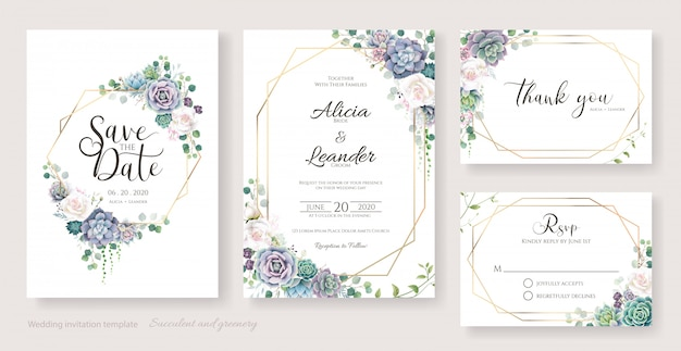 Белые розы и сочные ветви свадебные приглашения, сохраните дату, спасибо, шаблон rsvp.
